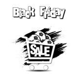 Pallone da calcio di vendita di Black Friday Immagine Stock Libera da Diritti