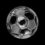 Pallone da calcio di vetro Fotografie Stock Libere da Diritti