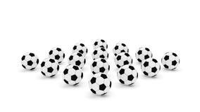 Pallone da calcio dozzina Fotografia Stock