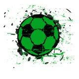 Pallone da calcio Grungy Immagine Stock