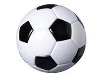 Pallone da calcio isolato su bianco con il percorso di ritaglio Fotografia Stock Libera da Diritti