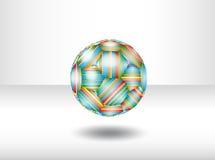 Pallone da calcio isolato. Immagini Stock Libere da Diritti