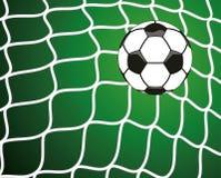 Pallone da calcio nella rete, simbolo di scopo Immagini Stock Libere da Diritti