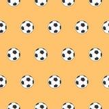 Pallone da calcio senza cuciture del modello e temi di calcio - Fotografie Stock Libere da Diritti