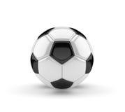 Pallone da calcio su fondo bianco 3D Immagini Stock