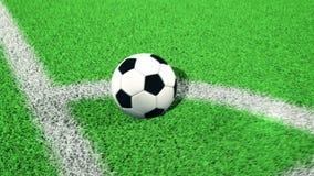 Pallone da calcio sull'angolo illustrazione di stock
