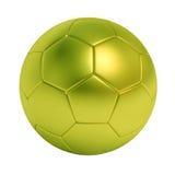 Pallone da calcio verde isolato su fondo bianco Fotografia Stock