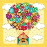 Pallone dei bottoni Fotografie Stock Libere da Diritti
