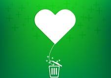 Pallone del cuore di vettore più rifiuti Immagini Stock Libere da Diritti