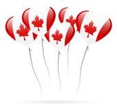 Pallone di giorno del Canada Fotografie Stock Libere da Diritti