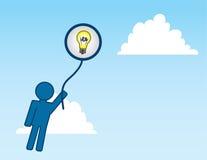 Pallone di idea illustrazione di stock