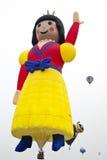 Pallone di principessa che decolla al festival internazionale Ballonfiesta del pallone fotografia stock