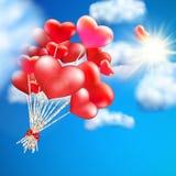 Pallone in forma di cuore nel cielo ENV 10 illustrazione vettoriale