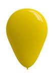 Pallone giallo lucido fotografia stock libera da diritti