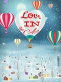 Pallone luminoso che sorvola villaggio ENV 10 royalty illustrazione gratis