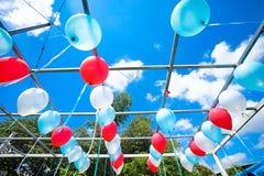 Pallone nell'aria Fotografie Stock