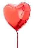 Pallone rosso del cuore Fotografie Stock Libere da Diritti