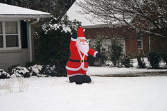 Pallone Santa In Snow Fotografia Stock