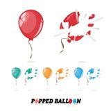 Pallone schioccato - Immagine Stock Libera da Diritti