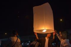 Pallone sul festival di Loy Krathong Immagine Stock Libera da Diritti