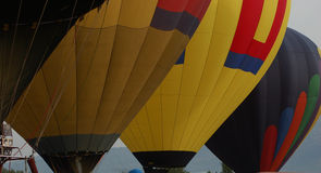 Palloni aerostatici Immagini Stock