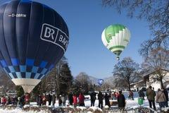 Palloni al Montgolfiade Fotografie Stock Libere da Diritti