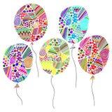 palloni asimmetrici colorati Immagini Stock Libere da Diritti