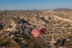 Palloni in Cappadocia Immagini Stock Libere da Diritti