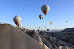 Palloni in Cappadocia Fotografia Stock