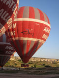 Palloni in Cappadocia Turchia Immagini Stock Libere da Diritti