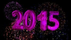 Palloni che dicono 2015 per il nuovo anno illustrazione vettoriale