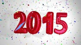 Palloni che dicono 2015 per il nuovo anno royalty illustrazione gratis