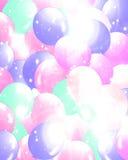 Palloni che riempiono i precedenti illustrazione vettoriale