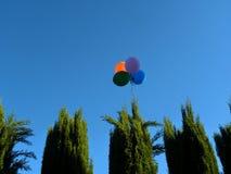 Palloni che volano a partire dal partito Fotografie Stock