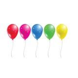 Palloni colorati del partito illustrazione di stock