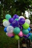 Palloni Colourful di compleanno Fotografia Stock