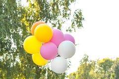 Palloni contro il cielo Fotografia Stock Libera da Diritti