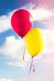 Palloni contro il cielo Fotografia Stock