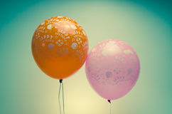 Palloni d'annata di compleanno Fotografia Stock