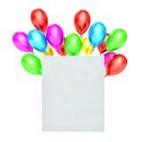 palloni 3d e spazio in bianco bianco illustrazione vettoriale