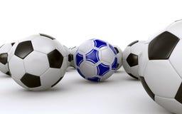 Palloni da calcio Fotografia Stock Libera da Diritti