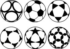 Palloni da calcio Fotografie Stock