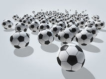 Palloni da calcio Fotografia Stock