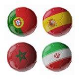 Palloni da calcio di calcio Fotografia Stock Libera da Diritti