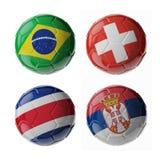 Palloni da calcio di calcio Immagine Stock