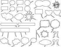 Palloni del testo, segni di comunicazione royalty illustrazione gratis