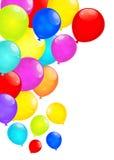 Palloni dell'arcobaleno isolati su fondo bianco Vettore eps10 illustrazione vettoriale