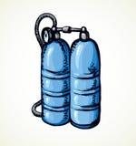 Palloni dell'ossigeno di immersione subacquea Illustrazione di vettore Fotografia Stock Libera da Diritti
