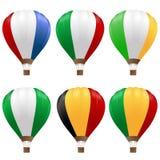 Palloni di aria calda impostati Fotografia Stock Libera da Diritti