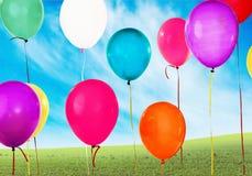 Palloni di celebrazione Fotografie Stock Libere da Diritti